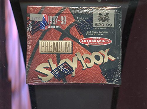 um Series 1 One Set NBA Basketball 97-98 Wax Pack Box (1997 Skybox)