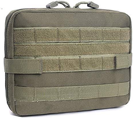 JETEDC(ジェットイデイシイ)molle ポーチ・バッグ バックパック ツールバッグ 工具差し入れ 道具袋 工具バッグ 釣り 小物入り (黑) (緑色、大)