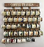 Rustic pallet wood coffee cup rack 40 or 48 mug hooks XL You are here mug collection display