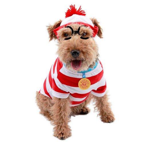 Where's Waldo Woof Costume (Elope Costumes Where's Waldo Woof Pet Costume, Small 1 ea)