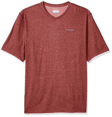 Columbia Men's Big Thistletown Park V-Neck, Red Element Heather, Large Tall