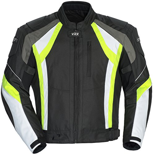 Cortech VRX Motorcycle Jacket Black/Hi-Viz/White Medium