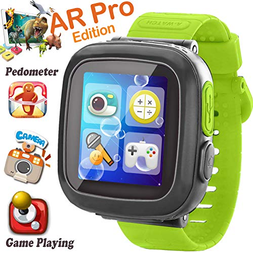 Kids Smart Watch, [AR Pro Edition] Game Smartwatch for Ages 3-12 Girls Boys Toddlers Digital Wristbands, 1.5'' Screen Camera Pedometer Alarm Clock Timer Learning Toys Back to School Supplies (green) (Best Ios Games For Toddlers)