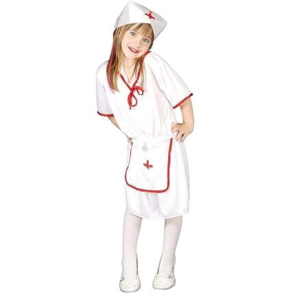 Amakando Traje Infantil Cuidadora Disfraz Enfermera Niña M ...