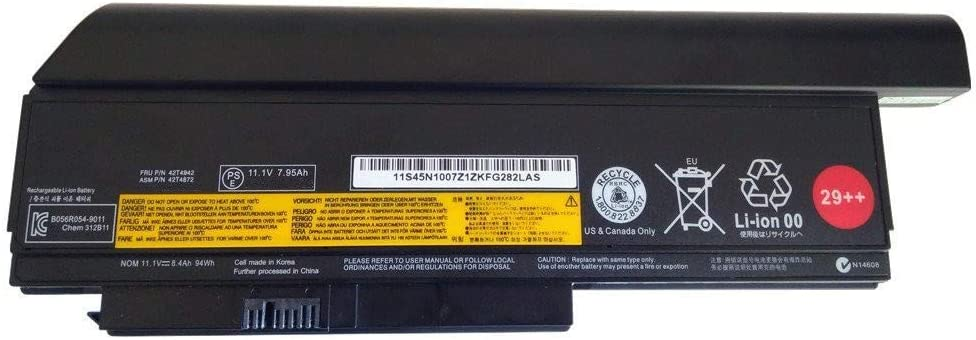 7XINbox 9 Cell 8400mAh 94Wh Replacement Battery for Lenovo ThinkPad X220 X220i X220s 0A36282 0A36283 42T4861 42T4865 42T4873 42T4875 42T4940 42T4942 ASM 42T4862 42T4861 29++