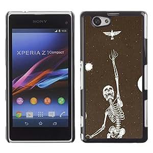 Shell-Star Art & Design plastique dur Coque de protection rigide pour Cas Case pour Sony Xperia Z1 Compact / Z1 Mini / D5503 ( Skeleton Vignette Dream Deep Meaning )
