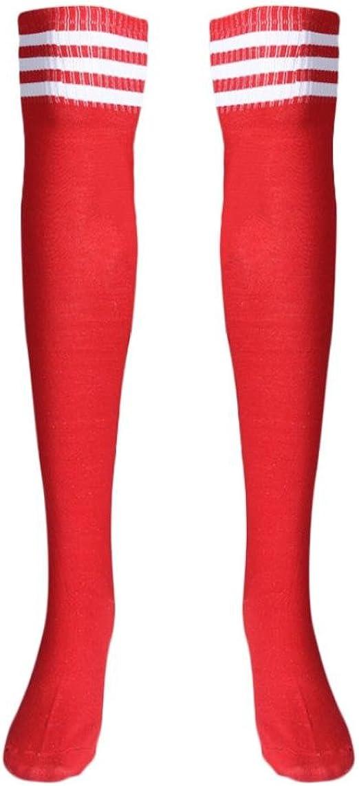 Men Women Stripe Outdoor Football Dance Stockings Thigh High Socks Free Size