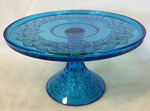 Cake Plate - Queen's Pattern - Mosser Glass - USA (Pattern Glass Cake Stand)