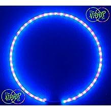 "Custom OD, 3/4"" HDPE - BLACKLIGHT UV Hula Hoop (Ultra Bright) 50xLED's super high density w Charger & Battery"