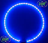 BLACKLIGHT UV Hula Hoop (Ultra Bright) 50xLED's super high density w Charger & Battery (34'' OD)