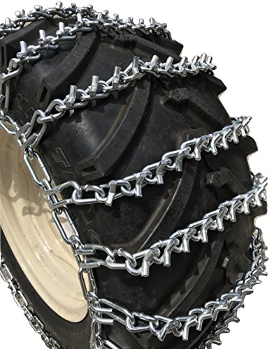 TireChain.com Heavy Duty, V Bar 2-Link Lawn and Garden Tire Chains, Priced per Pair. 4.10/3.50 X 5, 4.10/3.50 X 6, 12 X 3.50 X 6, 12.25 X 3.50 X 6 by TireChain.com