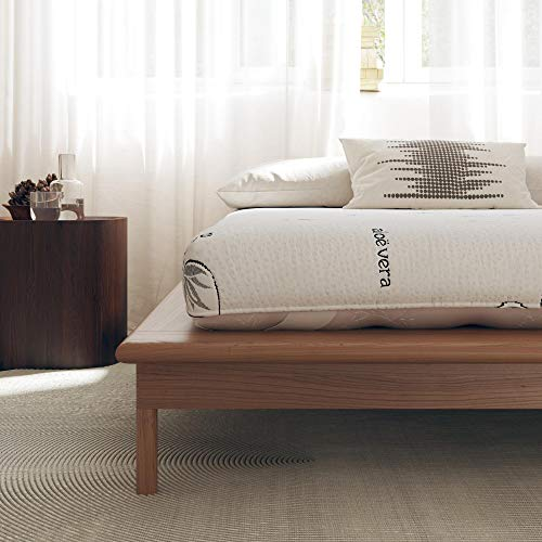 """Signature Sleep Honest Elements 7"""" Natural Wool Mattress with Organic Cotton and Micro Coils, Full Size, Made in USA"""