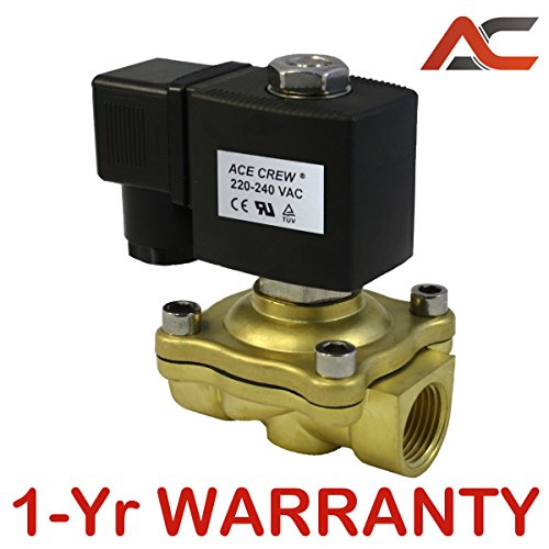 1/2 inch 220V-240V AC VAC Brass Electric Solenoid Valve NPT Gas Water Air NC N/C