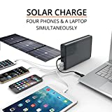 PowerOak K2 solar powerbank / Most powerful solar powerbank / 50000mah 185Wh with built in MPPT / 6 output ports 5V, 12V & 20V / Solar charge with 76W / just over 2.6 pounds