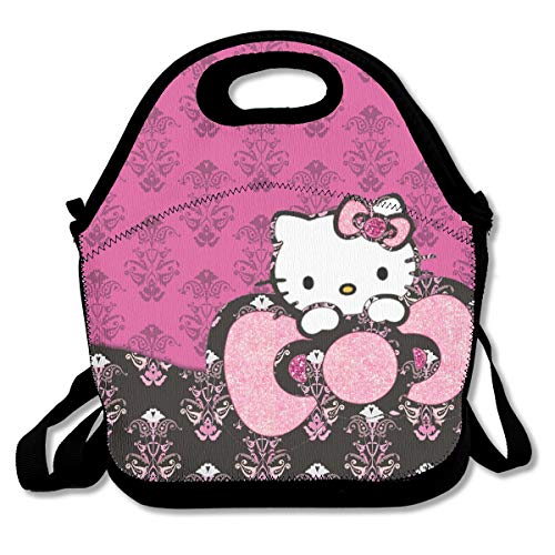 Meirdre Lunch Box Pink Hello Kitty Insulated Personalized