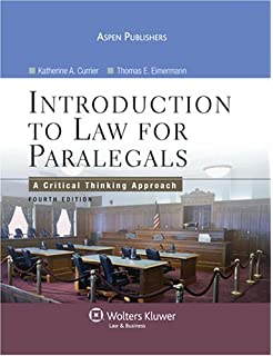Introduction to law for paralegals a critical thinking approach intro to law for paralegals a critical thinking approach fandeluxe Gallery