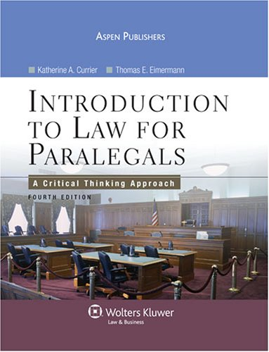 introduction to paralegal studies a critical thinking approach Introduction paralegal studies critical thinking approach 4 ed ebook introduction paralegal studies critical thinking approach 4 ed currently available at dynastyondemandco for review only, if you need complete ebook.