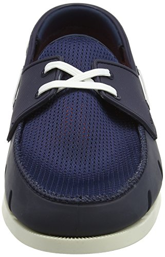 SWIMS Mens Boat Loafers Navy/White pBLk1TdBPA