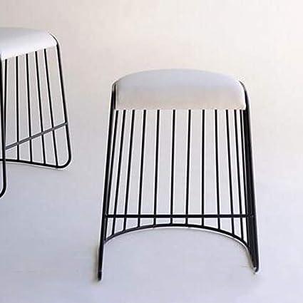 Fantastic Amazon Com Fei Iron Stool Fashion Seat Change Shoes Small Theyellowbook Wood Chair Design Ideas Theyellowbookinfo