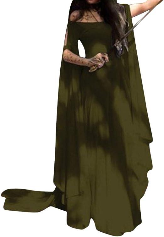 PengGengA Mujer Traje Medieval Irregular Disfraz De Reina Princesa ...