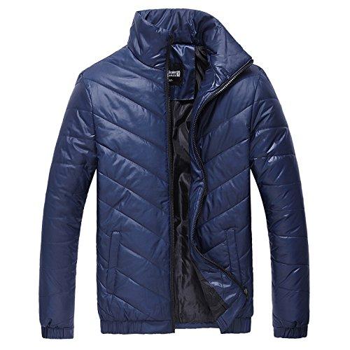 Hgfjn männer aus Baumwolle gepolsterte Baumwolle männer Mode Freizeitkleidung Farbe,Blau,XL
