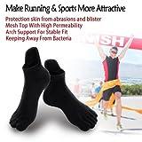 Mens No Show Toe Socks 6 Pairs Original Weight Low