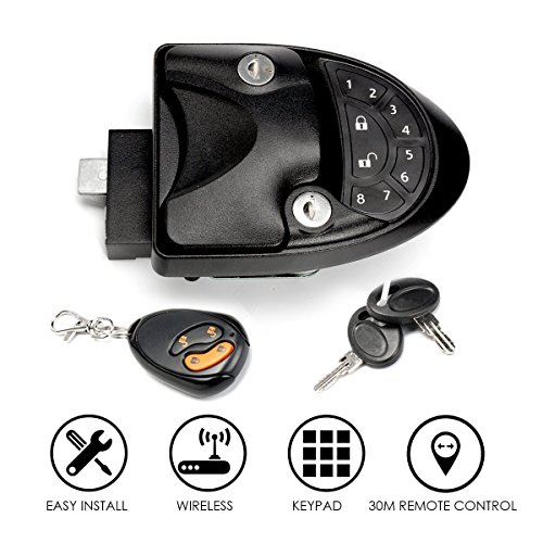 SAFETYON RV Keyless Entry System Car Alarms Remote Control Central Kit Door Lock Latch Handle Knob Deadbolt Camper Trailer (Upgrade)
