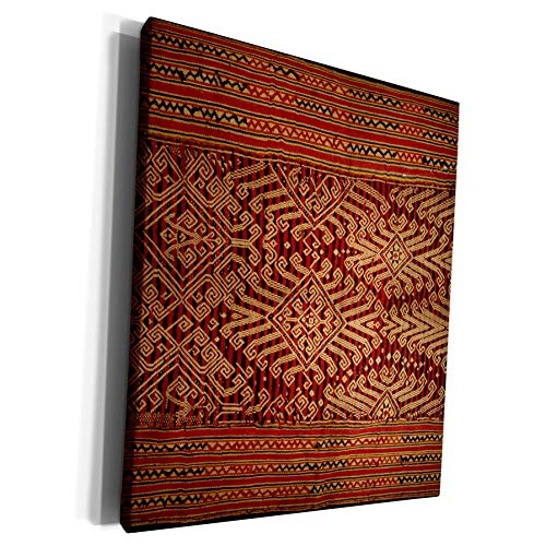 3dRose Danita Delimont - Textiles - Antique Asian Textile, Intricate - Museum Grade Canvas Wrap (cw_225980_1) from 3dRose