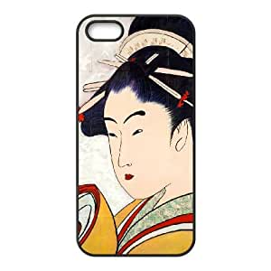 Mixed Media Geisha iPhone 5 5s Cell Phone Case Black itg