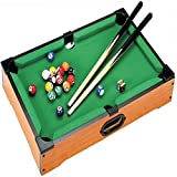 DELUXE MINI TABLE TOP POOL SET CHILDRENS CUE BALLS TOY SNOOKER GAME XMAS GIFT by Pool Table