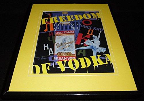 1995-stolichnaya-freedom-of-vodka-framed-11x14-original-advertisement-stoli