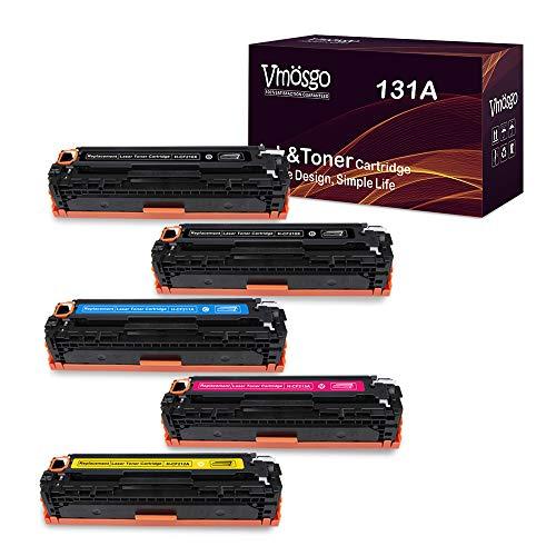 Vmosgo Compatible Toner Cartridge Replacement for HP 131A, CF210X CF211A CF212A CF213A, High Yield, Work with HP Laserjet Pro M251nw M276nw M251n M276n Printer (2 Black 1 Cyan 1 Yellow 1 Magenta)