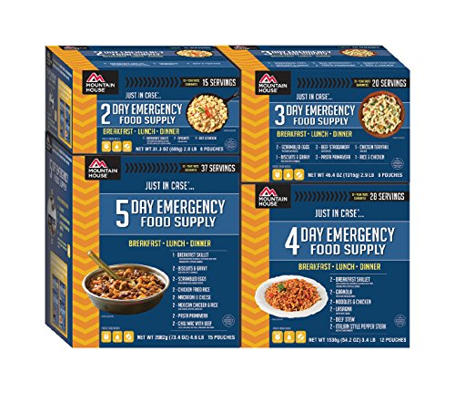 - Mountain House 14-Day Emergency Food Supply Kit