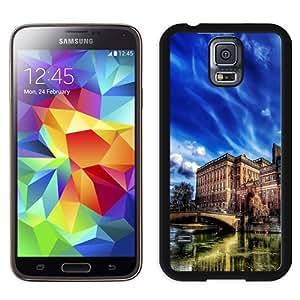 NEW Unique Custom Designed Samsung Galaxy S5 I9600 G900a G900v G900p G900t G900w Phone Case With HDR Old City Buildings_Black Phone Case wangjiang maoyi