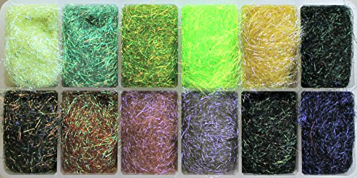Spirit River UV2 Assortment Diamond Brite Dubbing Material (12 colors)