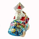 Christopher Radko ROYAL ROADSTER Glass Ornament Christmas