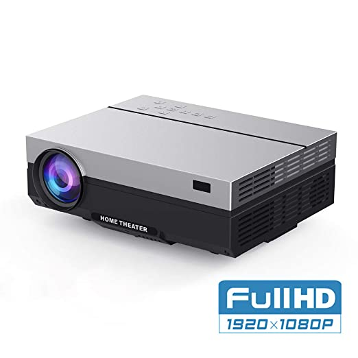 AI LIFE Proyector LED Nativo 1080p Beamer Full HD Video 6000 Lumen ...