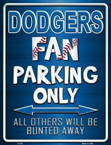 Smart Blonde Dodgers Metal Novelty Parking Sign P-219 ()