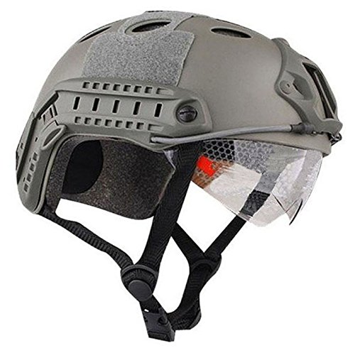 Tactical FAST Helmet w/ Protective Goggles/PJ Two Colors (FG)