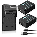 OAproda 2 Pack Fully Decoded DMW-BLC12 Batteries and Micro USB Charger for Panasonic DMW-BLC12, DMW-BLC12E, DMW-BLC12PP and Panasonic Lumix DMC-FZ1000, DMC-FZ200, DMC-G85, DMC-GH2, DMC-G5, DMC-G6