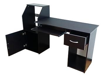 Bureau informatique noir pour pc et mac table pour placard amazon