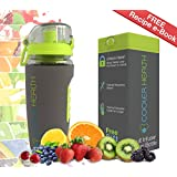 Best Fruit Infuser Water Bottle - FREE Infusion Recipe eBook & Anti Sweat Sleeve - 32oz - Full Starter Kit - BPA Free Plastic - Insulated - Best for Fruit Infused Water Travel Sport