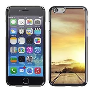 "Pulsar Snap-on Series Teléfono Carcasa Funda Case Caso para Apple Iphone 6 Plus / 6S Plus ( 5.5 ) , Desierto Nube Oro Sun Road"""