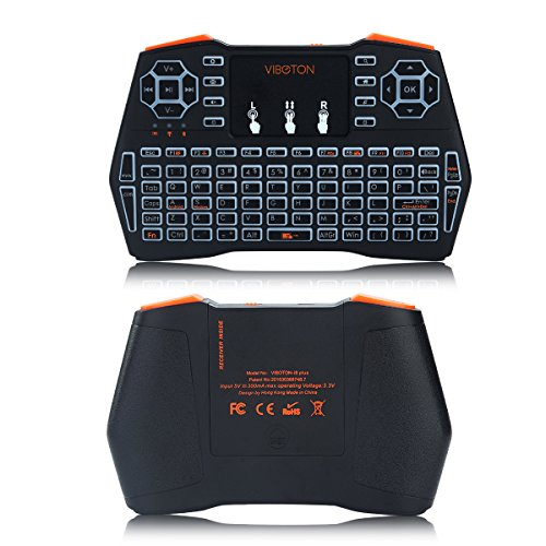 Wireless Keyboard,i8 Plus Running Rainbow Backlit with Touchpad Mouse,2.4GHz Rechargeable Combos Handheld Remote Control for Smart TV, Laptop, PC, Projector, TV Box