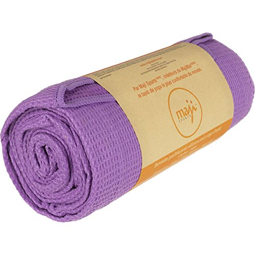 Maji Sports Silicone Wafle Yoga Towel, Purple