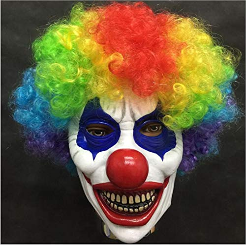 Waltz&F Halloween Clown Terrorist Masks Creepy Scary Funny Clown Latex Mask -