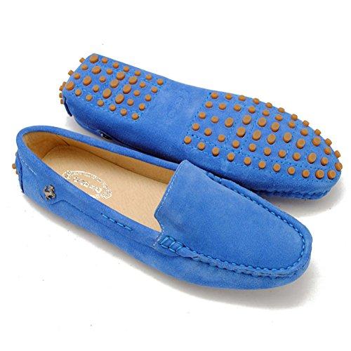 Tda Kvinna Bekväm Körning Vandringsled Som Kör Båt Skor Slip-on Lägenheter Loafers Blå