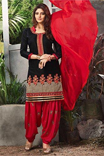 Partywear Black Anarkali Da Ethnic Designer Salwar Facioun Kameez 1 Indian Women Traditonal wCnvBIq