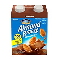 Blue Diamond Dairy Free Almond Breeze Almondmilk, Chocolate, 8 Ounce (Pack of 4)