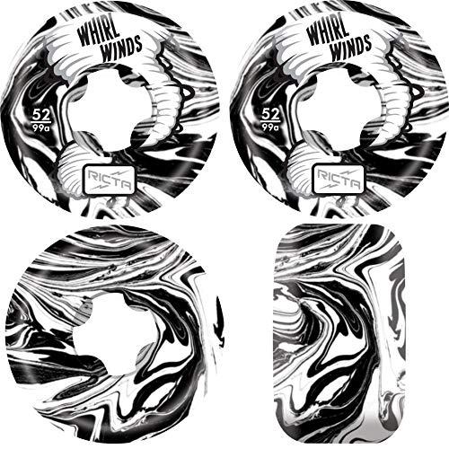面白いおとうさん聴覚Ricta スケートボードホイール 52mm Whirlwinds 99A ブラック/ホワイト スワール